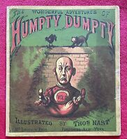 1870 THE WONDERFUL ADVENTURES OF HUMPTY DUMPTY VOL 2 ILLUSTRATED by THOMAS NAST