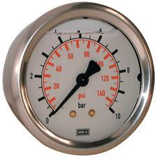 """WIKA Manómetros - 0-4bar 63mm diámetro Relleno 1/4"""" BSP posterior 4-00448"""