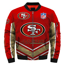 San Francisco 49ers Pilot Bomber Jacket MA1 Flight Thicken Coat Football Outwear