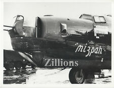 "WWII Photo B 24 Liberator ""MIZPAH"" 754th Bomber Squadron - 458th BG 8 1/2"" x 11"""