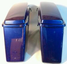 Harley HD Touring Cobalt Blue Hard Saddle bags Saddlebags Road King Glide DYNA
