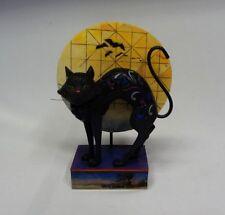 Jim Shore Heartwood Creek Bad Luck Halloween Cat/Moon Collectible Figurine ✔