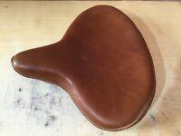 HARLEY WLA WLC VL UL EL WL KNUCKLEHEAD SOLO SEAT FLATHEAD IN BROWN
