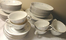 VINTAGE ENGLISH GARDEN PATTERN # 1221 FINE CHINA JAPAN  36 PIECE DINNER SET