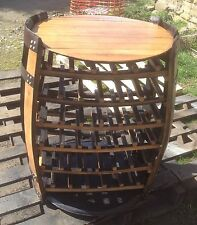 "Recycled Solid Oak Whisky Barrel Cabinet ""Hamish"" pub Wine Rack | Side Table"