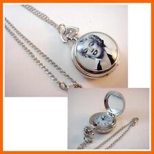 Marilyn Monroe Women Girl Ladies Pocket Watch Necklace FREE SHIPPING + GIFT