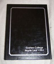 Maple Leaf 1981 yearbook Goshen College, Goshen, Indiana