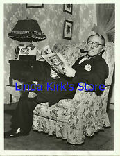 """Charlie Ruggles Relaxing Promo Photograph """"The Ruggles"""" ABC-TV B&W 1950s"""