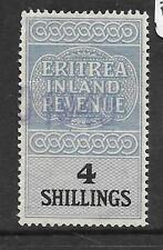 British Forces In Eretria (P1109B) Kgvi 4/- Revenue 4/- Rare Vfu