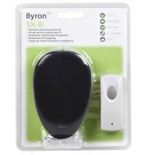 BYRON SX8i VIBRATING WIREFREE DOORCHIME & BELL PUSH 75M RANGE HEARING SIGHT