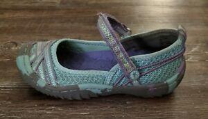 Jambu Kids Fia 4 mint green purple mary jane girls shoes size 12 M