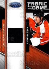 2011-12 Certified Fabric of the Game #108 Chris Pronger