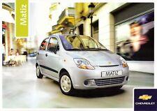 Prospekt / Brochure Chevrolet Matiz 04/2005 mit Preisliste