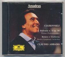 TCHAIKOVSKY Sinf. n°4 op.36 Romeo e Giuietta CLAUDIO ABBADO -CD Amadeus 042 a263