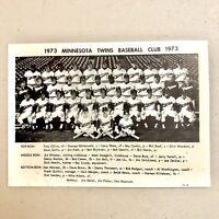 1973 MINNESOTA TWINS 5x7 MLB TEAM PHOTO KILLEBREW CAREW BASEBALL HOF USA