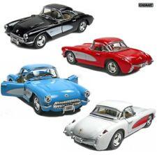 Set of 4 New Kinsmart 1957 Chevrolet Corvette Chevy Diecast Model Toy Car 1:34