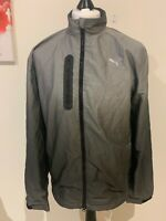 Mens Puma Grey Windbreaker Zip Jacket / Coat - Size Medium (M) B11