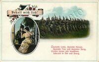 Prima guerra mondiale - Militare tedesco innamorato e soldati in marcia