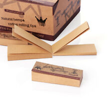 500x  Brown Rolling Paper Filter Tips Slow Burning Easy Hand-Rolled Papers-HQ
