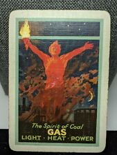 Spirit of Coal Gas Heat Old Antique Playing Card Single Swap Wide Collection Brk