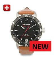 Wenger Men's Watch with BROWN Leather Strap.  FREE UNITED KINGDOM SHIPPING .....