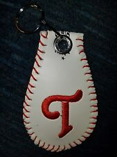 Personalized embroidered Real baseball keychains