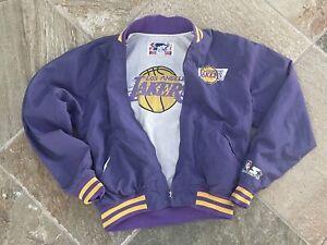 Vintage Los Angeles Lakers Starter Basketball Jacket, Size Youth Medium, 8-10