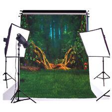 fotografia fondale sfondo studio scenario(green forest 2.1 x1.5M) E2J6