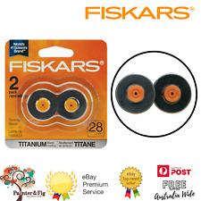 Fiskars Rotary Trimmer Titanium Blades 2 Pack 28mm Straight