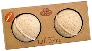 Patchouli Essential Oil Bath Bomb 2.75oz by Fabulous Frannie 2pk