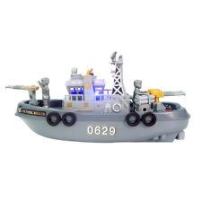 Electronic Mini Marine Patrol Boat Children Toy Model Fun Sound Toy