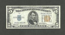 US 5 DOLLARS 1934A NORTH AFRICA WWII EMERGENCY SILVER CERTIFICATE  P414AYa