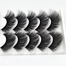 5Pairs 3D Mink False Eyelashes Long Natural Thick Fake Eye Lashes Mink Makeup