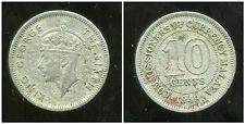 MALAISIE ( MALAYA british  colony )  10 cents 1949