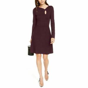 INC NEW Women's Asymmetrical-neck Keyhole Sweater Dress TEDO
