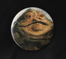 VINTAGE STAR WARS BADGE PINBACK BUTTON RETURN OF THE JEDI JABBA THE HUTT 1983