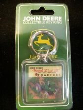 JOHN DEERE FARM TRACTOR EQUIPMENT DEER LOGO KEY RING ACRYLIC KEYCHAIN, L and LA