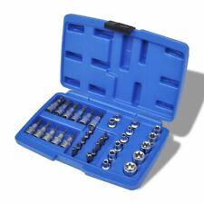 vidaXL Torx Bit and Star Socket Set 34 pcs with Storage Case Socket Drivers