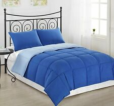 Solid Egyptian Blue Down Alternative Comforter 200 GSM All Seasons Queen Size