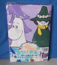 Die Mumins Kinder-Bettwäsche NEU 80s Kids Bedding Duvet Fabric Vintage Moomin