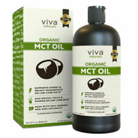 Viva Naturals Organic MCT Oil for Morning Coffee, Paleo Diet Certified, 32 fl oz