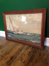 Vintage Sailing Yachts Race Decorative Wall Art Print 1950's 1960's Retro Framed