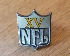 Vintage 1981 SUPER BOWL XV 15 Media Press Pin Oakland Raiders/Philadelphia Eagle