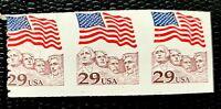 1991 US Stamps SC#2523b imperf Strip of 3 Coil MNH/OG