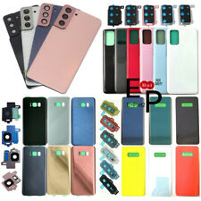 Battery Glass Cover With Camera Lens For Samsung Galaxy S7 S8 S9 S10 S20 S21