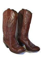 Dan Post Women's Size 7.5 C Burgundy Red Brown Western Cowboy Cowgirl Boots