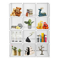 12-Cube Book Shelf Storage Shelves Closet Organizer Cubes Organizer Bookcase