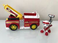Paw Patrol Marshall's All Stars Fire Truck & Figure HTF Exclusive EUC Rare