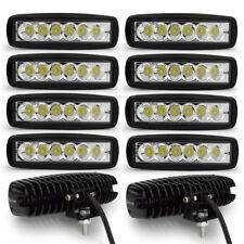10X6'' 18W LED Work Light Bar Offroad Driving Lamp Truck UTE 4X4 Spot fog lights