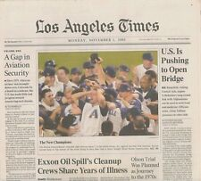 Gap aviation security Arizona Diamondbacks win World Series November 5 2001 B4